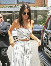Kendall Jenner looked oh-so-cool in her aviators while filming 'Keeping Up with the Kardashians.'