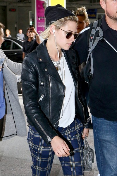 More Pics of Kristen Stewart Print Pants (1 of 7) - Pants & Shorts Lookbook - StyleBistro []