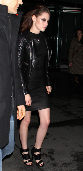 More Pics of Kristen Stewart Leather Jacket (1 of 17) - Kristen Stewart Lookbook - StyleBistro