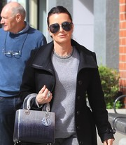 Kyle Richards was spotted out in Beverly Hills rocking oversized aviator sunglasses.