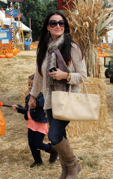 More Pics of Kyle Richards Knee High Boots (1 of 38) - Kyle Richards Lookbook - StyleBistro