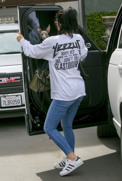 Kylie Jenner Leather Sneakers