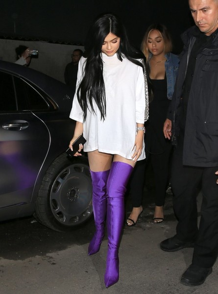 Kylie Jenner Over the Knee Boots [footwear,fashion model,tights,leg,fashion accessory,thigh,joint,leggings,fashion,jeans,kylie jenner,purple,model,pair,knee high boots,fashion,statement,boot,parties,party,kylie jenner,kendall jenner,fashion,kris jenner,model,keeping up with the kardashians,celebrity,knee-high boot,tv personality,boot]
