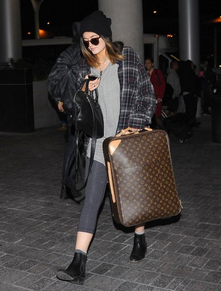 Kylie Jenner Leather Suitcase
