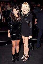Liv attended the L'Oreal Paris Runway event in a super short embellished dress.