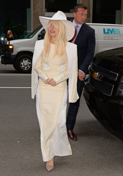 Lady Gaga Shoulder Pad Dress