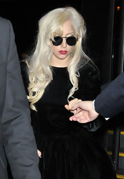 Lady Gaga paired her look with round sunglasses while out and about in Washington D.C.