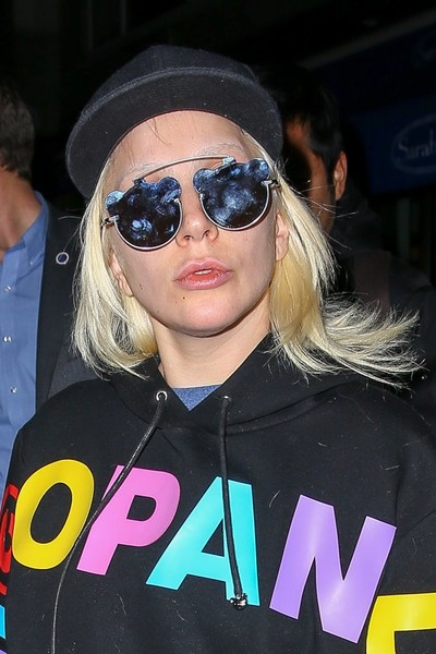 Lady Gaga kept it cute and playful with these panda-shaped sunglasses by Nicopanda while out and about in New York City.