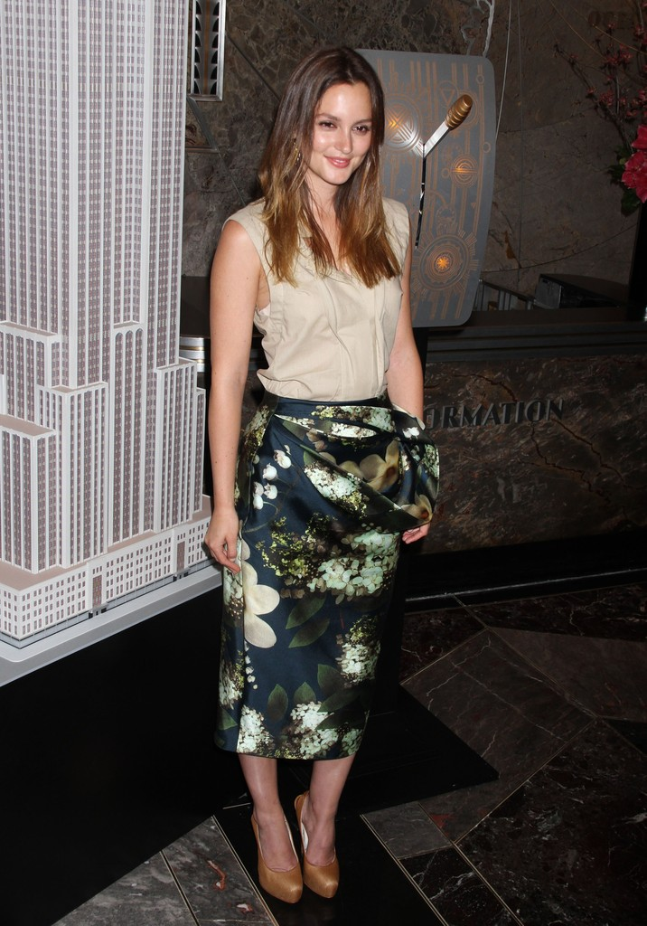 Leighton Meester Knee Length Skirt Leighton Meester