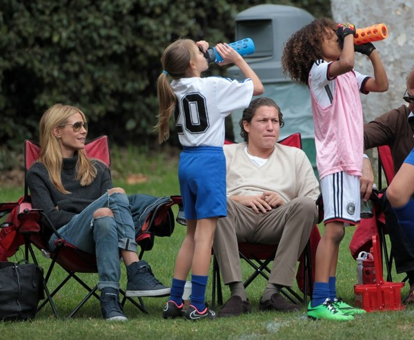 Heidi Klum & Vito Schnabel Watch Her Kids Play Soccer