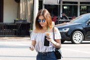 Lucy Hale Off-the-Shoulder Top