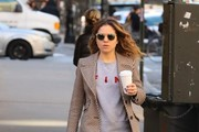 Margarita Levieva Tweed Coat