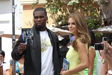 "Maria Menounos 50 Cent Celebs at The Grove for ""Extra"""