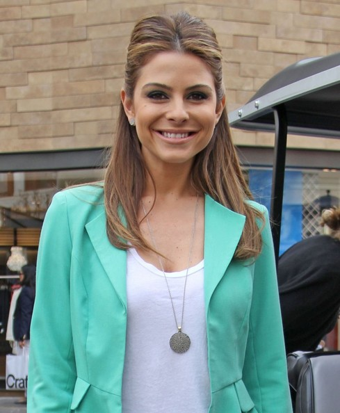 Maria Menounos Taking A Break In Between EXTRA Interviews