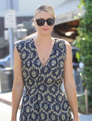 Maria Sharapova was spotted out and about in Beverly Hills wearing a pair of oversized wayfarers.