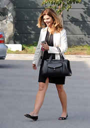 Maria Shiver kept her look casual while out and about town with simple black flats.
