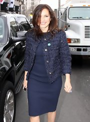 Mariska Hargitay stepped out in a classic shift dress paired with a fitted jacket while out in Washington D.C.