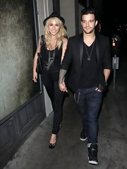 Mark Ballas rocked a pair of classic blue jeans for a more relaxed look while going out.