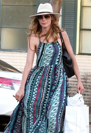 Michelle Monaghan kept a low profile with a white fedora while shopping in Beverly Hills.