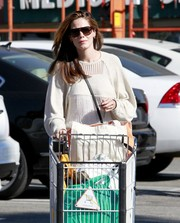 Michelle Monaghan was spotted out looking cool in her shield sunglasses.
