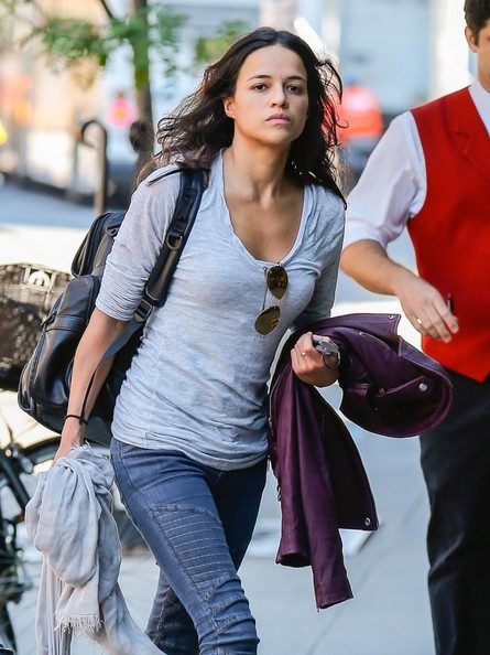 Michelle Rodriguez Long Sleeve T-Shirt
