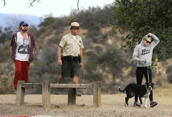 Miley Cyrus Goes Hiking with Her Dad