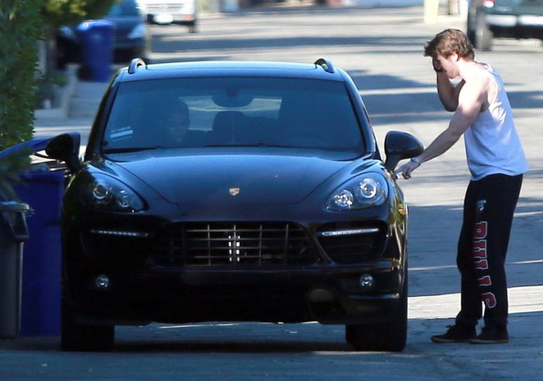 Miley Cyrus And Liam Hemsworth Leaving A Family Gathering