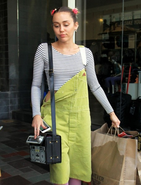 Miley Cyrus Printed Shoulder Bag