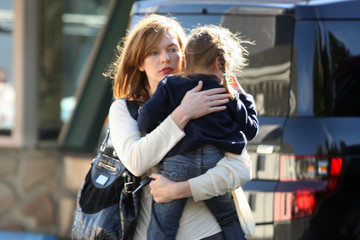 Milla Jovovich Takes Daughter Ever Anderson Out For Lunch At Mel's Drive-In