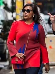 Mindy Kaling was seen out in New York City wearing a pair of classic cateye sunglasses.
