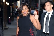 Mindy Kaling Embroidered Dress