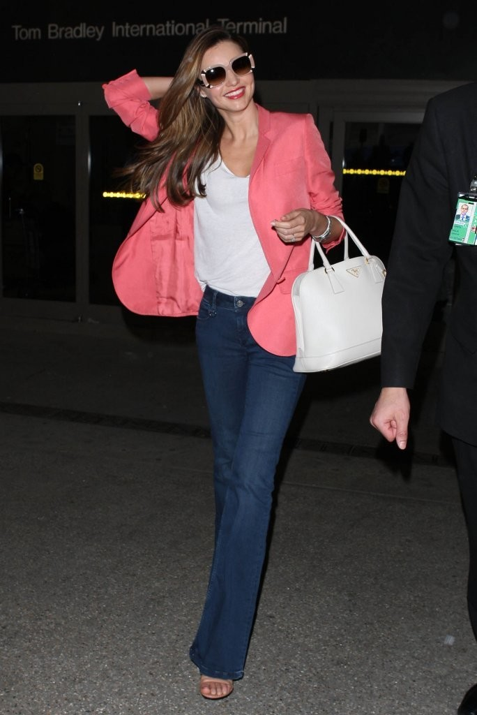 Miranda Kerr Arrives in LA