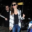 Miranda Kerr's Plaid Blazer and Flats