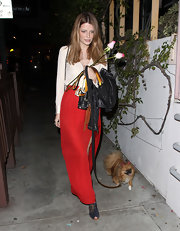 Mischa Barton was right on the money in a long crimson skirt with a seductive slit.
