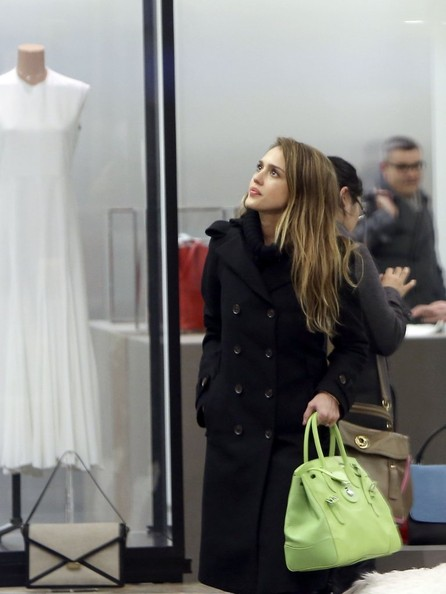 More Pics of Jessica Alba Wool Coat (5 of 13) - Wool Coat Lookbook - StyleBistro