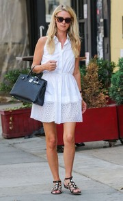 Nicky Hilton stepped out in New York City wearing a summery white shirtdress.