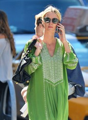 Nicky Hilton shielded her eyes with a pair of oval shades while strolling in New York City.