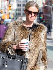 Nicky Hilton was retro-glam wearing these cateye sunnies by Celine while out and about in New York City.