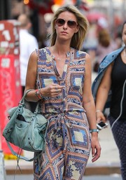 Nicky Hilton accessorized with stylish brown aviators for a day out in New York City.
