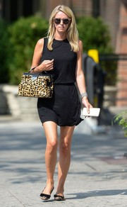 Nicky Hilton styled her dress with bowed leopard-print flats by Topshop.