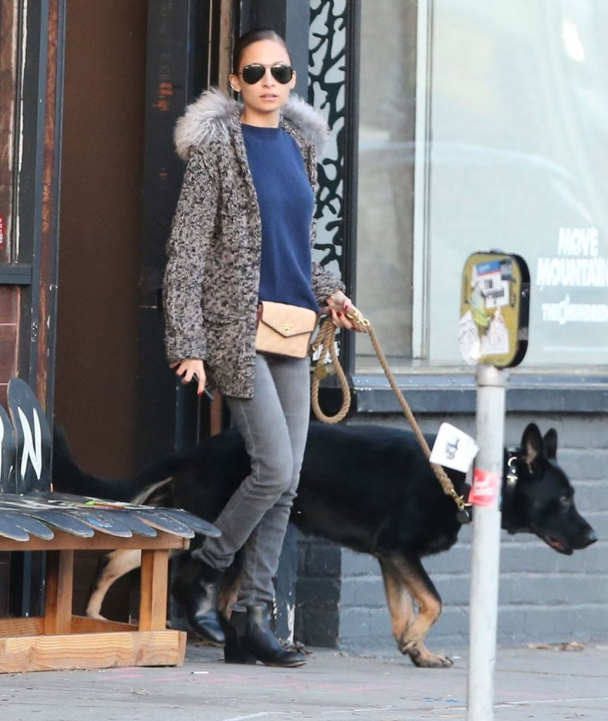 Nicole Richie and Joel Madden Shop with Their Dog