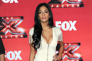 Nicole Scherzinger's Long Layered Hairstyle at CBS Television City Studios Stage 36