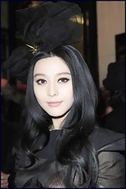 Fan Bingbing rocked a long layered cut at Paris fashion week.