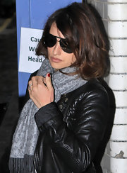 Penelope Cruz went out shopping in London wearing her hair casually tousled.