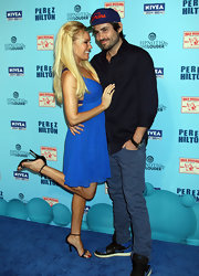 Bridget Marquardt paired her flirty blue frock with delicate black patent heels adorned with blue crystals.