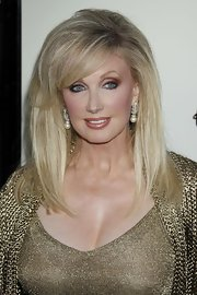 Morgan Fairchild was perfectly coiffed with a sleek straight 'do at the premiere of 'The Perfect Game.'