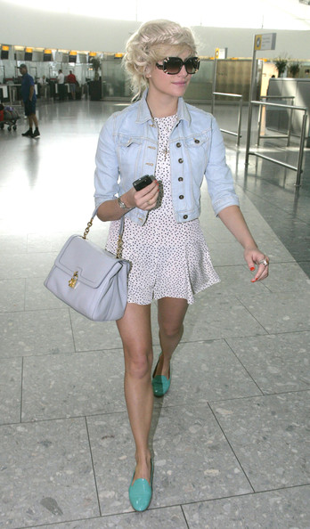 Pixie Lott Leather Slip On Shoes