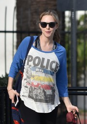 Amanda Seyfried kept the sun out with a pair of wayfarers while out on a stroll with her dog.