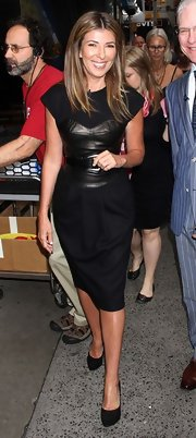 Nina Garcia wore this heart-stopping faux corset dress to the 'Project Runway' party on 'Good Morning America.'