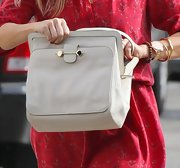 Reese Witherspoon carried a leather shoulder bag on a lunch date.
